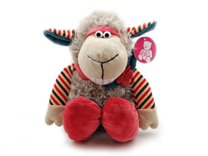 Мягкая игрушка Овечка с цветком, 36 смBL-7109-2Очаровательная мягкая игрушка Овечка с цветком, выполненная в виде милой жизнерадостной овечки серого цвета с повязкой-цветком на шее и модных ботинках, вызовет умиление и улыбку у каждого, кто ее увидит. Удивительно мягкая игрушка принесет радость и подарит своему обладателю мгновения нежных объятий и приятных воспоминаний. Великолепное качество исполнения делают эту игрушку чудесным подарком к любому празднику.