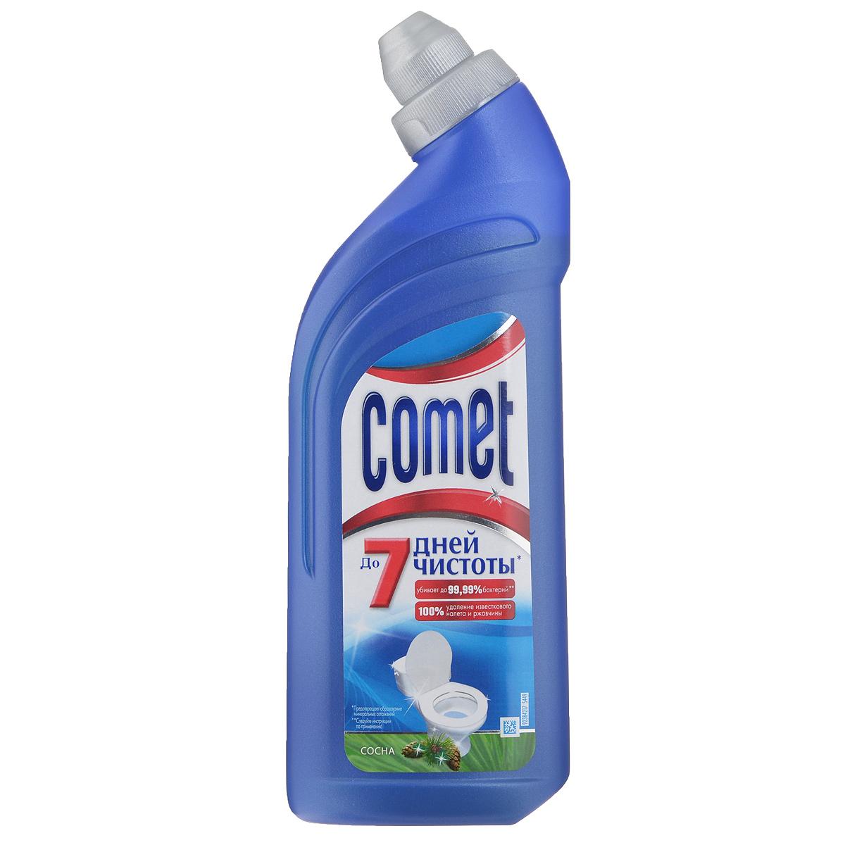 Чистящее средство для туалета Comet, сосна, 500 млCG-80227816Чистящее средство Comet для туалета сохраняет чистоту до 7 дней, благодаря защитному слою. Средство отлично чистит и удаляет известковый налет и ржавчину, а также дезинфицирует поверхность. Обладает приятным ароматом сосны. Товар сертифицирован. УВАЖАЕМЫЕ КЛИЕНТЫ! Обращаем ваше внимание на возможные изменения в дизайне товара. Поставка осуществляется в зависимости от наличия на складе.