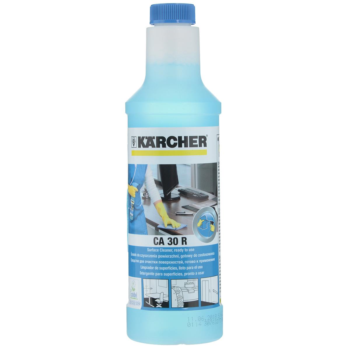 Чистящее средство Karcher CA 30 R, для очистки поверхностей, 500 мл 6.295-708.06.295-708.0Чистящее средство для ухода Karcher CA 30 R идеально подходит для очистки различных поверхностей. Средство отлично удаляет грязь не оставляя за собой разводов. Состав: <5% неионные тензиды, ароматизаторы.