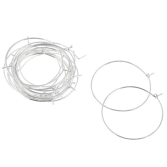 Основа для серег Астра Кольцо с замком, цвет: серебристый, 0,7 мм х 35 мм, 20 шт7704264_сереброКомплект Астра Кольцо с замком состоит из 20 круглых основ, которые изготовлены из металла с замком. С этими основами вы сможете легко сделать прекрасные сережки. Радуйте себя и своих близких украшениями сделанными своими руками!
