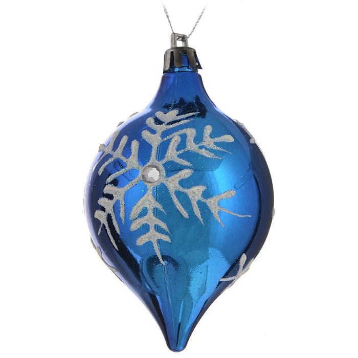 Набор новогодних подвесных украшений Sima-land Сосулька, цвет: синий, 4 шт. 547448547448 синийНабор новогодних подвесных украшений Sima-land Сосулька прекрасно подойдет для праздничного декора новогодней ели. Набор состоит из 4 пластиковых украшений в виде сосулек с изображением снежинок. Изделия украшены блестками и стразами. Для удобного размещения на елке для каждого украшения предусмотрена текстильная петелька. Елочная игрушка - символ Нового года. Она несет в себе волшебство и красоту праздника. Создайте в своем доме атмосферу веселья и радости, украшая новогоднюю елку нарядными игрушками, которые будут из года в год накапливать теплоту воспоминаний. Откройте для себя удивительный мир сказок и грез. Почувствуйте волшебные минуты ожидания праздника, создайте новогоднее настроение вашим дорогим и близким. Размер украшения: 6 см х 6 см х 9 см.