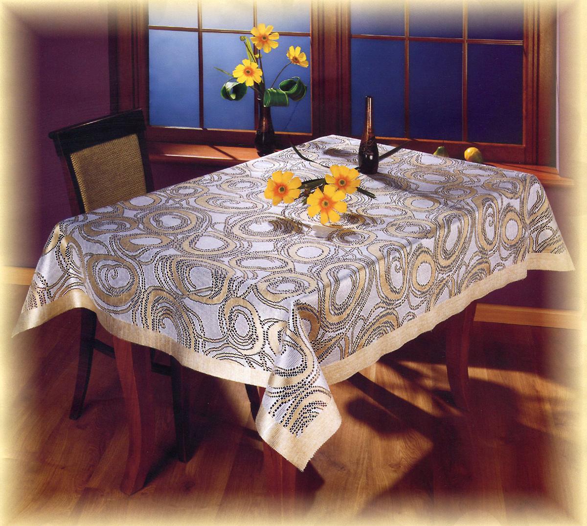 Скатерть Wisan Rufus, прямоугольная, цвет: кремовый, бежевый, 130 x 170 см8956 крем/золотоВеликолепная прямоугольная скатерть Wisan Rufus с жаккардовым плетением органично впишется в интерьер любого помещения, а оригинальный дизайн удовлетворит даже самый изысканный вкус. Изделие выполнено из полиэстера пастельных оттенков и украшено изящным орнаментом. Скатерть поможет создать атмосферу уюта и домашнего тепла в интерьере вашей кухни или комнаты, а также станет настоящим украшением праздничного стола.