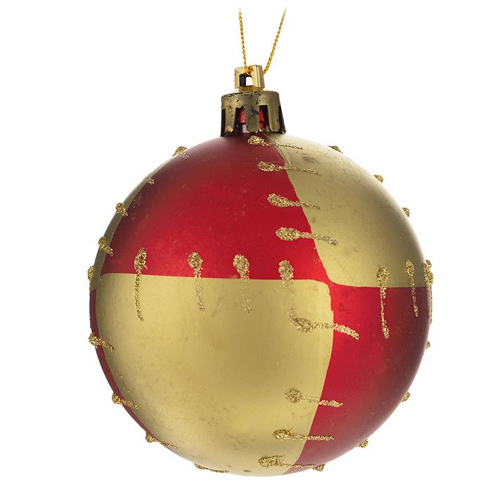 Набор новогодних подвесных украшений Sima-land Шар, цвет: красный, золотистый, диаметр 7 см, 6 шт. 519893519893Набор новогодних подвесных украшений Sima-land Шар прекрасно подойдет для праздничного декора новогодней ели. Набор состоит из 6 игрушек, выполненных из пластика и украшенных блестками. Для удобного размещения на елке для каждой игрушки предусмотрена текстильная петелька. Елочная игрушка - символ Нового года. Она несет в себе волшебство и красоту праздника. Создайте в своем доме атмосферу веселья и радости, украшая новогоднюю елку нарядными игрушками, которые будут из года в год накапливать теплоту воспоминаний. Коллекция декоративных украшений принесет в ваш дом ни с чем не сравнимое ощущение волшебства! Откройте для себя удивительный мир сказок и грез. Почувствуйте волшебные минуты ожидания праздника, создайте новогоднее настроение вашим дорогим и близким.