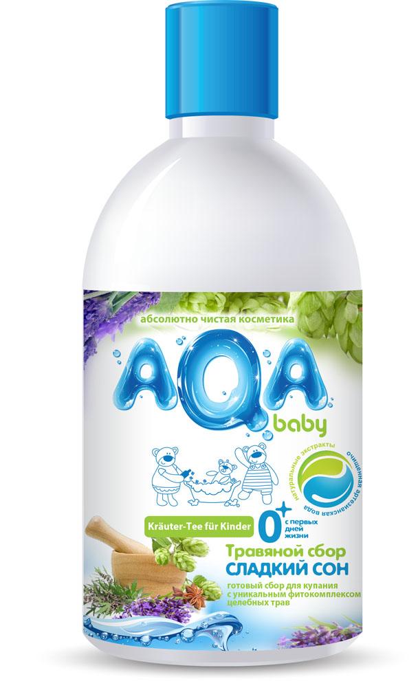 AQA baby Травяной сбор для купания малышей Сладкий сон, 300 мл009431Польза от купания в травах известна с давних времен: купание в сборах лекарственных трав улучшает тонус, стимулирует аппетит, способствует выделению продуктов обмена через поры кожи, успокаивает сон и доставляет огромное удовольствие малышу и его маме. Готовые травяные сборы для купания малыша AQA baby предлагают мамам оценить неоспоримые преимущества данных продуктов: Ощутимая экономия времени – не нужно заваривать кипятком, настаивать на водяной бане, процеживать; Сохраняют до 95% активных компонентов, чего невозможно достичь при самостоятельном заваривании трав в пакетиках; Экономичны в использовании, т.к. являются концентратами: достаточно 2-3-х колпачков на детскую ванночку; Безопасны, разработаны специально для новорожденных. Травяной сбор Сладкий Сон из целебных трав пустырника и хмеля обладает двойным эффектом: успокаивает малыша и нежно заботится о детской коже. Сбор Сладкий сон рекомендован в качестве натуральной...