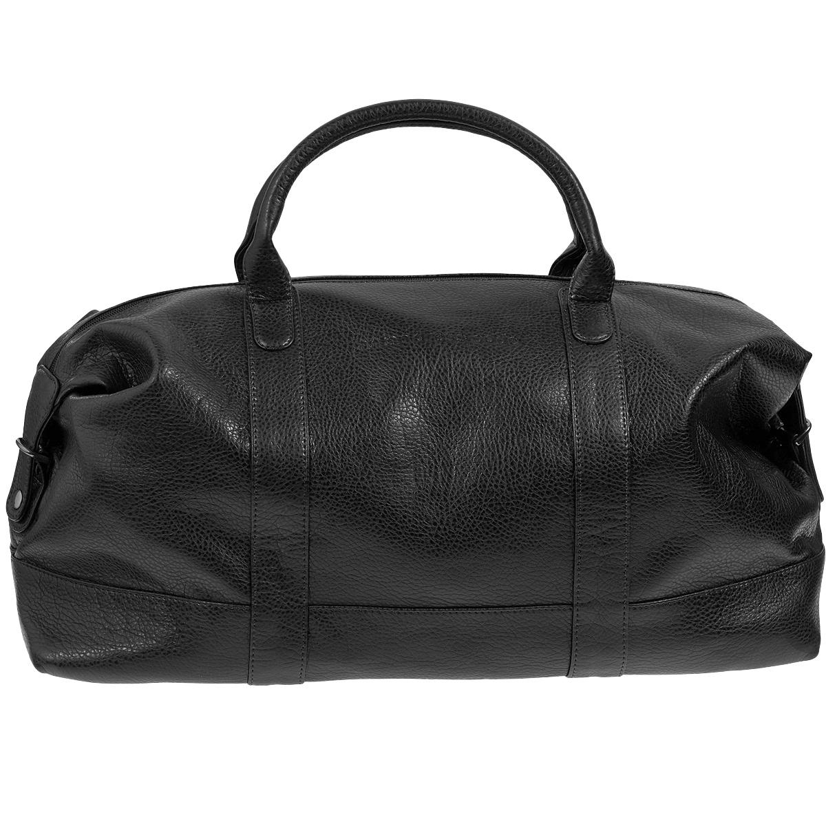 Сумка дорожная Antan, цвет: черный. 2-229 В2-229 В черныйВместительная дорожная сумка Antan выполнена из искусственной кожи с фактурной поверхностью. Сумка имеет одно отделение, закрывающееся на застежку-молнию. Внутри - вшитый карман на молнии. С внешней стороны на задней стенке сумки предусмотрен дополнительный карман на молнии. Сумка оснащена двумя удобными ручками и съемным плечевым ремнем регулируемой длины. Такая сумка будет незаменима при походе в спортзал, а также может использоваться в качестве ручной клади во время путешествия.