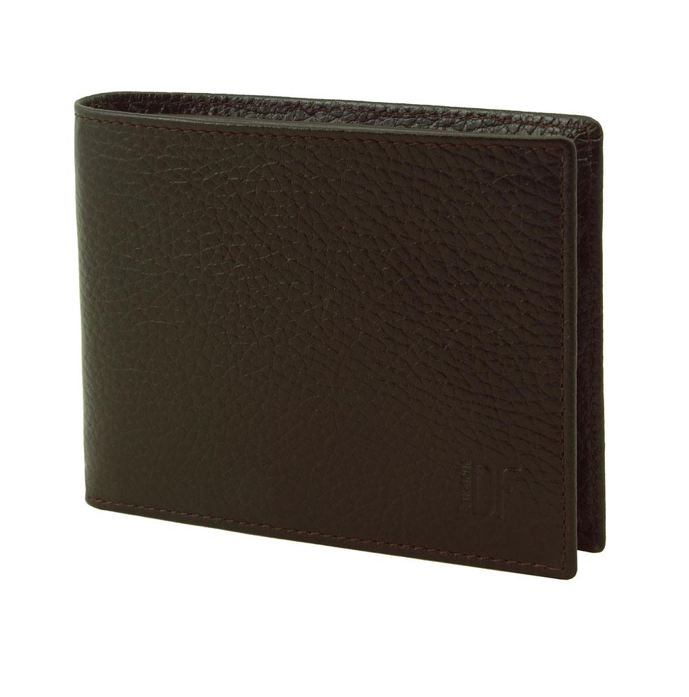 Кошелек мужской Dimanche Street Brun, цвет: темно-коричневый. 193193Стильный мужской кошелек Dimanche Street Brun изготовлен из натуральной высококачественной фактурной кожи. Закрывается на скрытую застежку-кнопку. Внутри имеются два отделения для купюр, пять кармашков для пластиковых карт, четыре кармашка для автодокументов или бумаг, два потайных кармашка для мелких бумаг, кармашек для сим-карты, а также объемный карман с отделением для мелочи, который закрывается клапаном с потайной кнопкой. Стильный кошелек эффектно дополнит ваш образ и станет незаменимым аксессуаром. Упаковано изделие в фирменную картонную коробку.