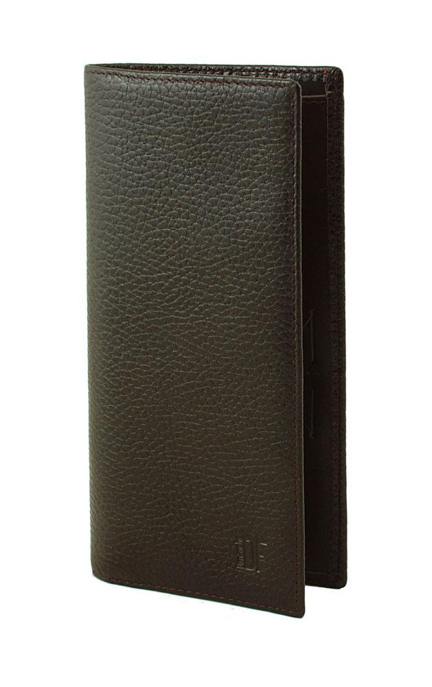 Портмоне мужское Dimanche Street Brun, цвет: темно-коричневый. 197197Стильное мужское портмоне Dimanche Street изготовлено из натуральной фактурной кожи. Внутри содержится пять отделений для купюр, карман на молнии для мелочи, одиннадцать карманов для пластиковых карт и 2 кармашка для сим-карт. Оформлено изделие небольшим тиснением в виде названия и логотипа бренда. Фурнитура - серебристого цвета. Стильное портмоне эффектно дополнит ваш образ и станет незаменимым аксессуаром. Упаковано изделие в фирменную картонную коробку.