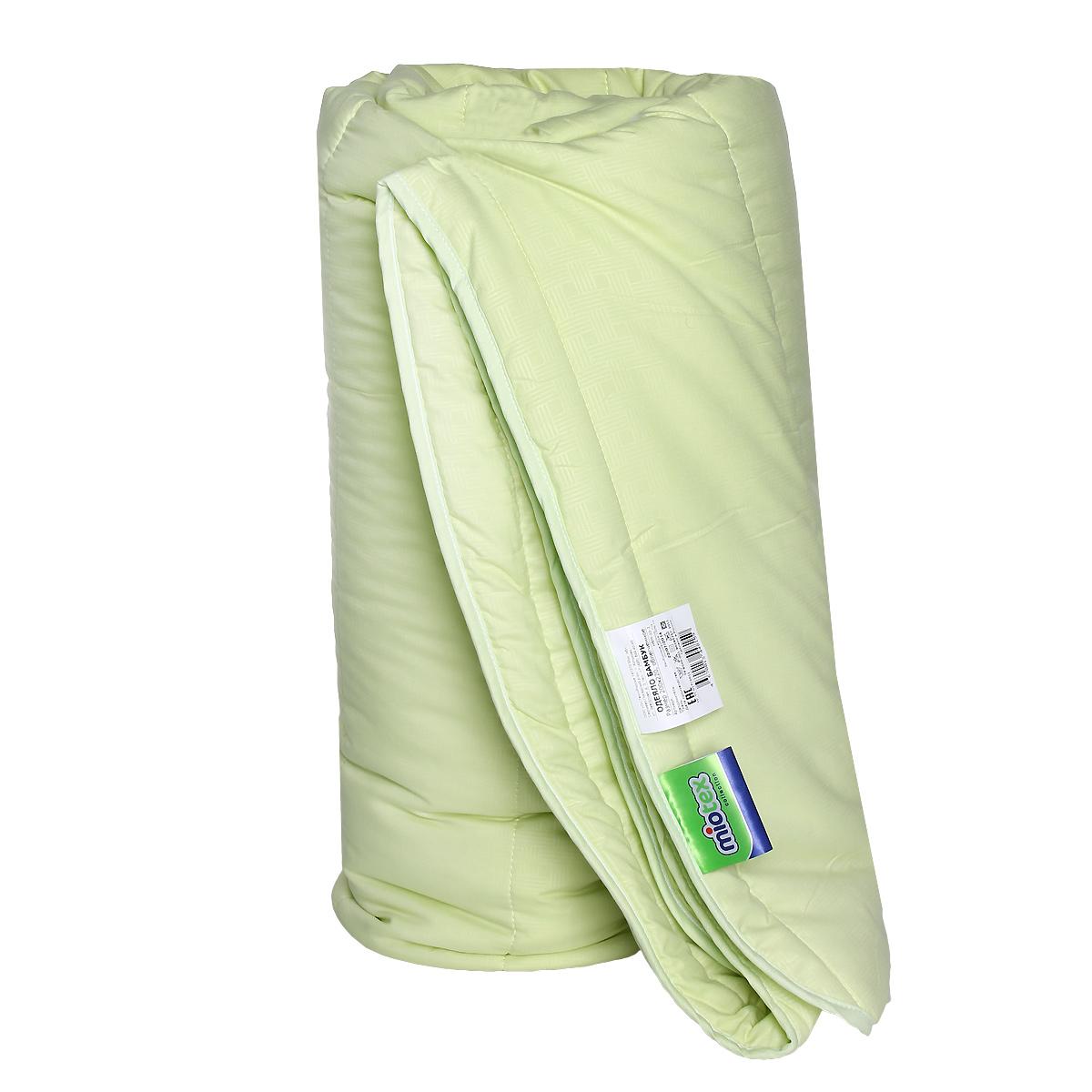 Одеяло облегченное OL-Tex Miotex, наполнитель: волокно бамбука, цвет: фисташковый, 200 х 220 смМБМ-22-2Теплое и уютное одеяло OL-Tex Miotex подарит комфорт и уют во время сна. Чехол изделия выполнен из микрофибры фисташкового цвета, оформлен стежкой и кантом по краю. Стежка равномерно удержит наполнитель в чехле, а окантовка держит форму изделия. Обладает всеми полезными свойствами бамбукового волокна - не накапливает пыль и запахи, совершенно антиаллергенно. Не теряет своих качеств при многократных стирках. Легкое летнее одеяло, за которым легко ухаживать - прекрасный выбор. Рекомендации по уходу: - Ручная и машинная стирка при температуре 30°С. - Не гладить. - Не отбеливать. - Нельзя отжимать и сушить в стиральной машине. - Сушить вертикально.