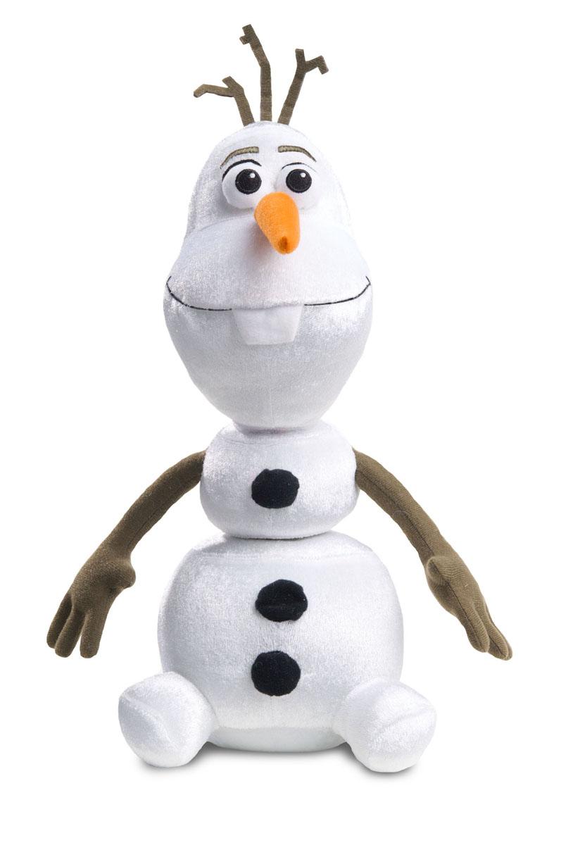 Интерактивная игрушка Disney Холодное сердце: Олаф, 35 см12810Интерактивная Disney Холодное сердце: Олаф станет любимой игрушкой вашего ребенка. Она выполнена из мягкого текстильного материала в виде Олафа - добродушного снеговика из мультфильма Холодное Сердце от компании Дисней. Части его тела и нос-морковка прикреплены на эластичную резинку; за них можно тянуть. Если нажать на среднюю пуговичка снеговика или потрясти его, он произнесет одну из фраз: Ой, стойте, что тут происходит? Вы, что, тут играете в летучих мышей? Я идеален У, голова Здравствуйте, я Олаф, люблю жаркие объятья Что-то я не в форме Я не чувствую ног, я не чувствую своих ног! Чудесная мягкая игрушка принесет радость и подарит своему обладателю мгновения нежных объятий и приятных воспоминаний. Рекомендуется докупить 2 батарейки напряжением 1,5V типа AA (товар комплектуется демонстрационными).