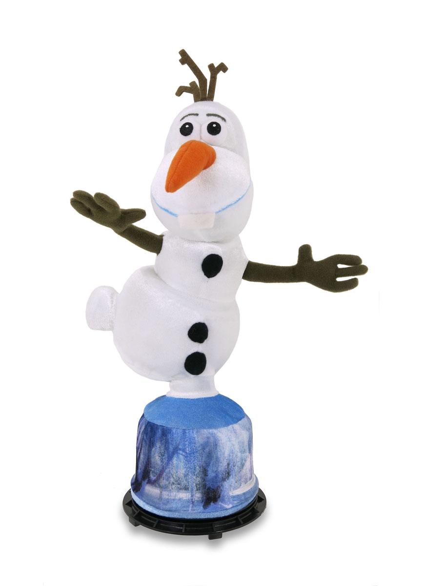 Анимированная игрушка Disney Холодное сердце: Говорящий Олаф, 35 см12840Анимированная игрушка Disney Холодное сердце: Говорящий Олаф станет любимой игрушкой вашего ребенка. Она выполнена из мягкого текстильного материала в виде Олафа на подставке - добродушного снеговика из мультфильма Холодное Сердце от компании Дисней. Если нажать на среднюю пуговичка снеговика, он начнет двигаться и произносить следующие фразы, крутясь после каждой вокруг своей оси: Ой, стойте, что тут происходит? Вы, что, тут играете в летучих мышей? Я идеален У, голова Здравствуйте, я Олаф, люблю жаркие объятья Что-то я не в форме Я не чувствую ног, я не чувствую своих ног! Такая игрушка поднимет настроение вашему ребенку. Порадуйте его таким замечательным подарком! Рекомендуется докупить 3 батарейки напряжением 1,5V типа AA (товар комплектуется демонстрационными).