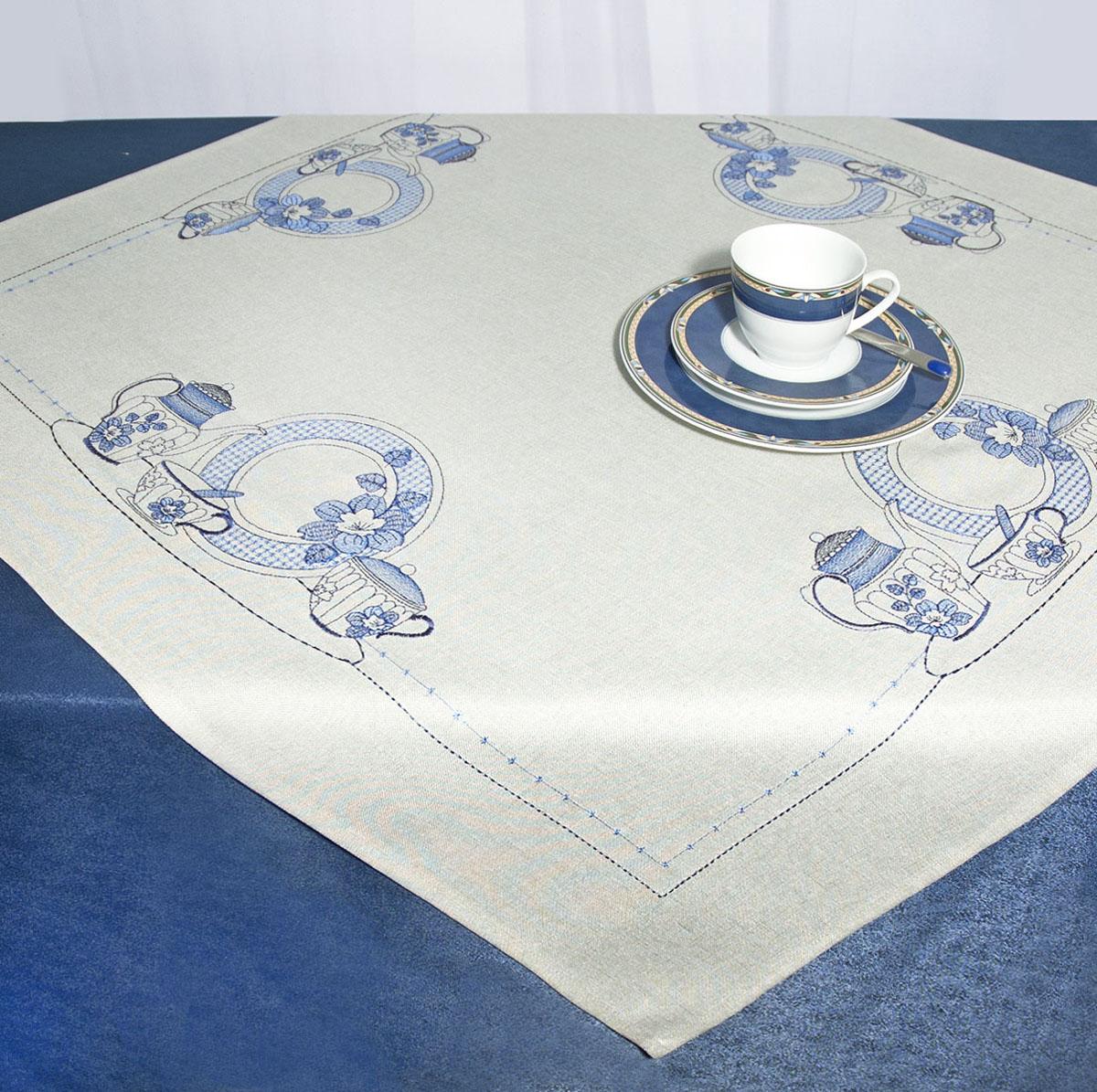 Скатерть Schaefer, квадратная, цвет: серый, 85 x 85 см. 07480-10007480-100Скатерть Schaefer изготовлена из полиэстера и украшена вышивкой в виде чайников, тарелок и др. Изделия из полиэстера легко стирать: они не мнутся, не садятся и быстро сохнут, они более долговечны, чем изделия из натуральных волокон. Кроме того, ткань обладает водоотталкивающими свойствами. Такая скатерть будет просто не заменима на кухне, а особенно на вашем обеденном столе на даче под открытым небом. Скатерть Schaefer не останется без внимания ваших гостей, а вас будет ежедневно радовать ярким дизайном и несравненным качеством. Немецкая компания Schaefer создана в 1921 году. На протяжении всего времени существования она создает уникальные коллекции домашнего текстиля для гостиных, спален, кухонь и ванных комнат. Дизайнерские идеи немецких художников компании Schaefer воплощаются в текстильных изделиях, которые сделают ваш дом красивее и уютнее и не останутся незамеченными вашими гостями. Дарите себе и близким красоту каждый...