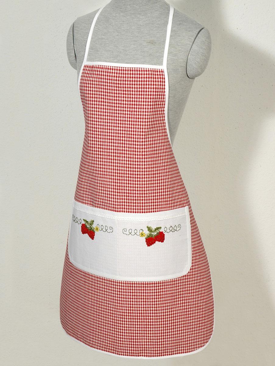 Набор для вышивания фартука Schaefer, цвет: красный, 67 см х 82 см6746-148-фартук