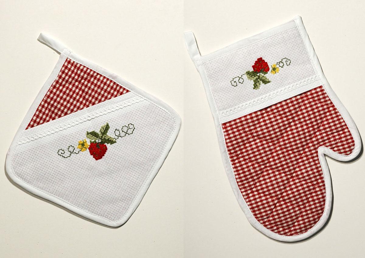 Набор для вышивания прихваток Schaefer, цвет: красный6746-148-прихватки