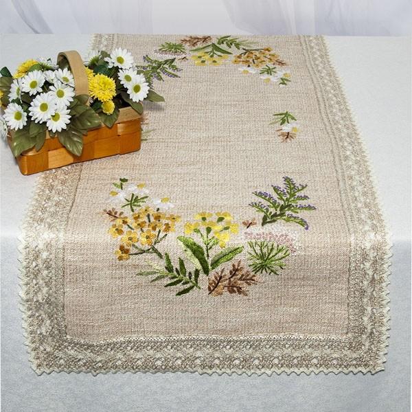 Дорожка для декорирования стола Schaefer, прямоугольная, цвет: бежевый, 50 x 100 см 6489/3856489/385Набор домашнего текстиля (90% полиэстер, 10% вискоза) (Дорожка, 50*100 см; ) Изысканный текстиль от немецкой компании Schaefer – это красота, стиль и уют в вашем доме. Дорожка послужит прекрасным декором, как для гостиной, так и для кухни, идеально подойдет для любого интерьера и события от домашних завтраков до романтического ужина. Дарите себе и близким красоту каждый день! Изделие легко стирать и гладить, не требует специального ухода.