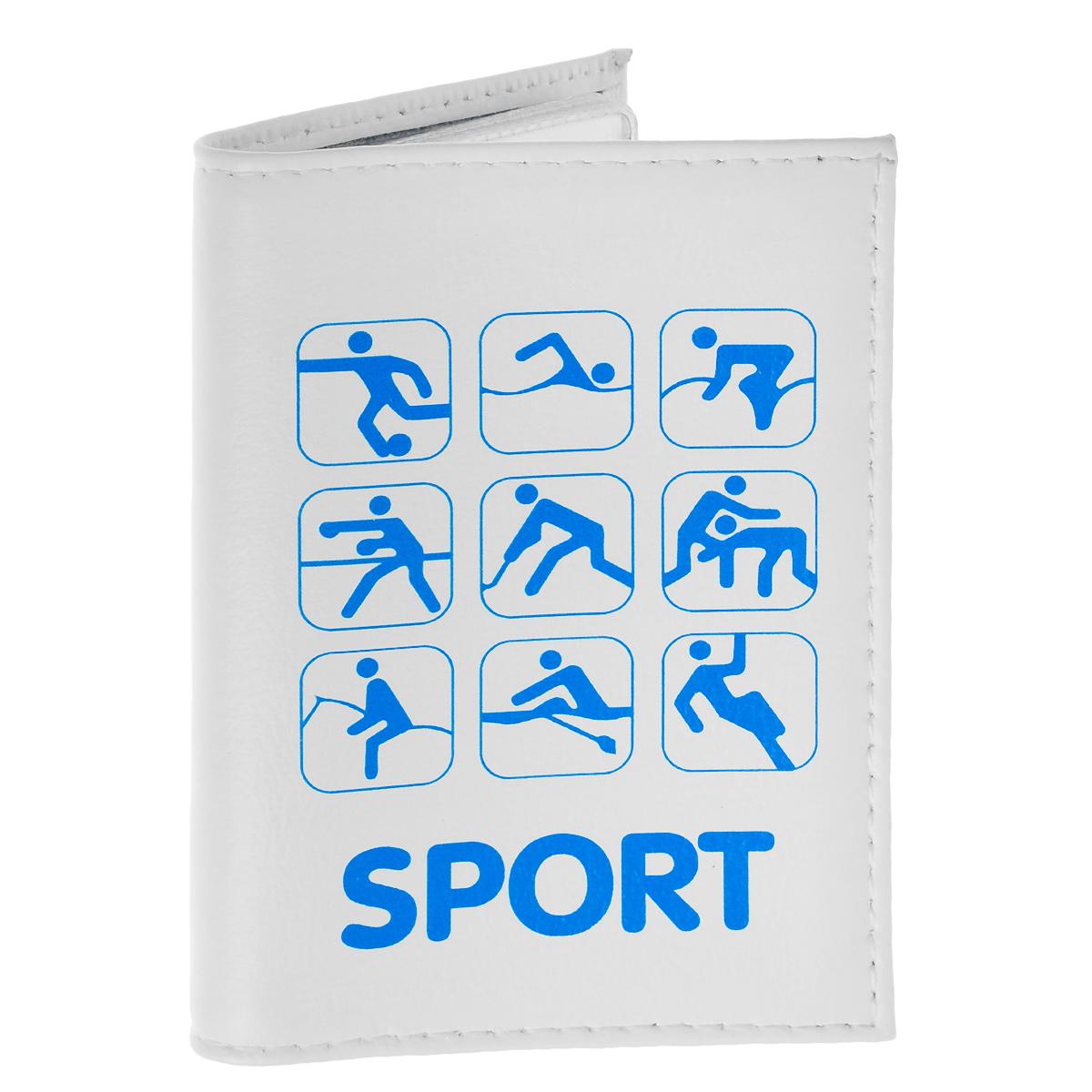 Обложка для автодокументов Sport. AUTO287AUTO287Обложка для автодокументов Mitya Veselkov Sport изготовлена из натуральной кожи белого цвета и оформлена изображениями значков, каждый из которых олицетворяет один из видов спорта. На внутреннем развороте имеются съемный блок из шести прозрачных файлов из мягкого пластика для водительских документов, один из которых формата А5, а также два боковых кармашка для визиток или банковских карт. Стильная обложка не только поможет сохранить внешний вид ваших документов и защитит их от грязи и пыли, но и станет аксессуаром, который подчеркнет вашу яркую индивидуальность.