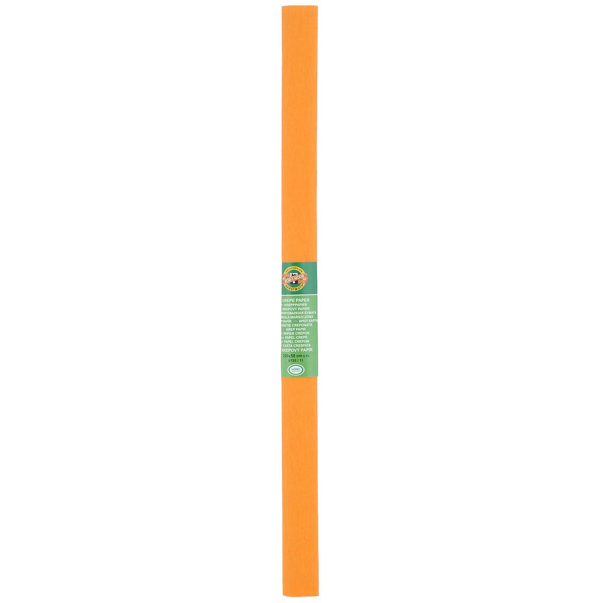 """Бумага гофрированная """"Koh-I-Noor"""", цвет: светло-оранжевый, 50 см x 2 м"""