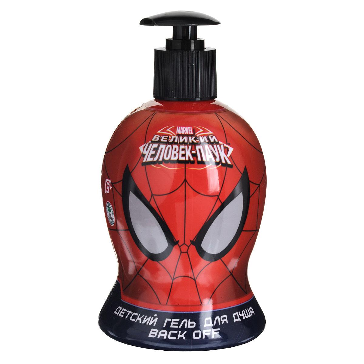 Spider-Man Гель для душа Back off, детский, 480 мл1204Мягкий гель для душа делает кожу гладкой и бархатистой. Незаменимый помощник в борьбе с усталостью и скукой. Гель образует густую ароматную пену, которая великолепно очищает кожу, ухаживает и насыщает энергией. Линия средств для настоящего супер-героя! Товар сертифицирован.
