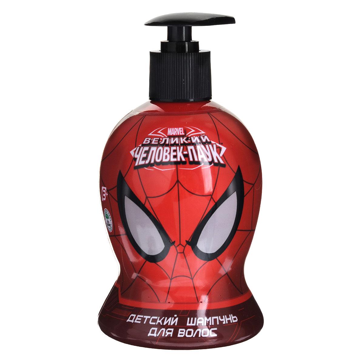 Spider-Man Шампунь Black is Black, детский, 480 мл9651/8832Шампунь мягко очищает волосы и кожу головы, одновременно питает их полезными растительными экстрактами. Волосы становятся мягкими, шелковистыми, легко расчесываются. Приятный тонизирующий аромат заряжает великолепным настроением надолго. Линия средств для настоящего супер-героя! Товар сертифицирован.
