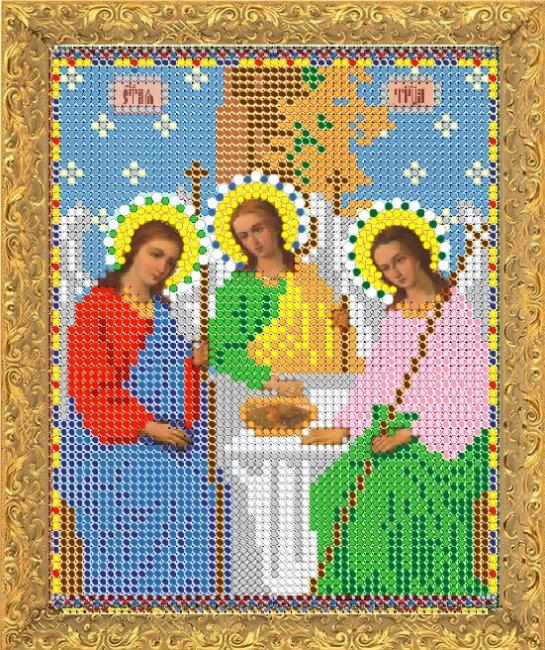 Набор для вышивания бисером Светлица Святая Троица, 11,8 х 15,8 см7331М