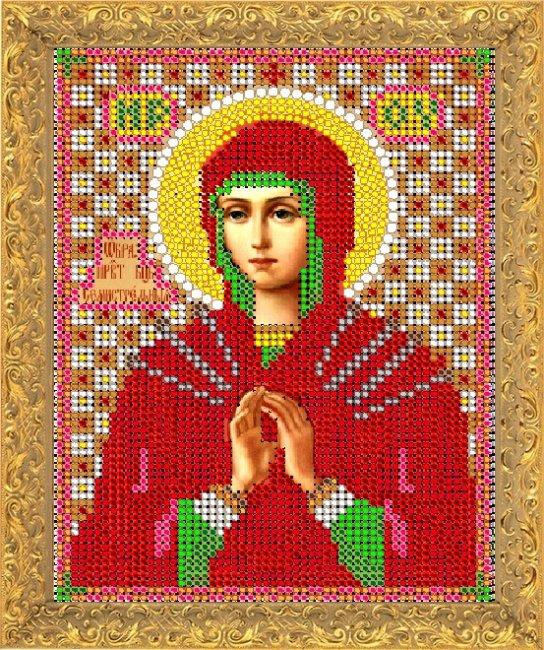 Набор для вышивания бисером Светлица Пресвятая Богородица Семистрельная, 12 х 16 см7370М
