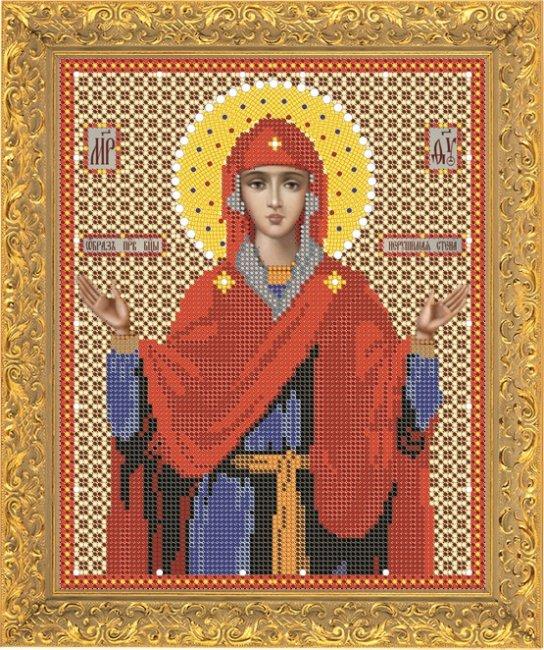 Набор для вышивания бисером Светлица Пресвятая Богородица Нерушимая Стена, 18,4 см х 24,1 см7360