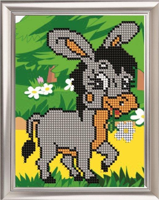 Набор для вышивания бисером Светлица Ослик, 11 х 14 смД-012