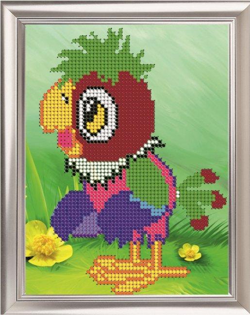 Набор для вышивания бисером Светлица Попугай, 11 см х 14 смД-014