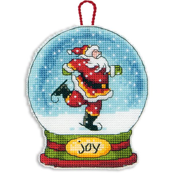 Набор для вышивания крестом Dimensions Снежный шар, 9,5 х 11,4 смDMS-70-08905Набор для вышивания Dimensions Снежный шар поможет вам создать свой личный шедевр - новогоднее подвесное украшение, вышитое в технике счетный крест. Вышивание отвлечет вас от повседневных забот и превратится в увлекательное занятие! Работа, сделанная своими руками, создаст особый уют и атмосферу в доме и долгие годы будет радовать вас и ваших близких, а подарок, выполненный собственноручно, станет самым ценным для друзей и знакомых. В набор входят: - канва пластиковая 14 белая, - хлопковые нитки мулине: 15 цветов, - игла, - инструкция на русском языке.