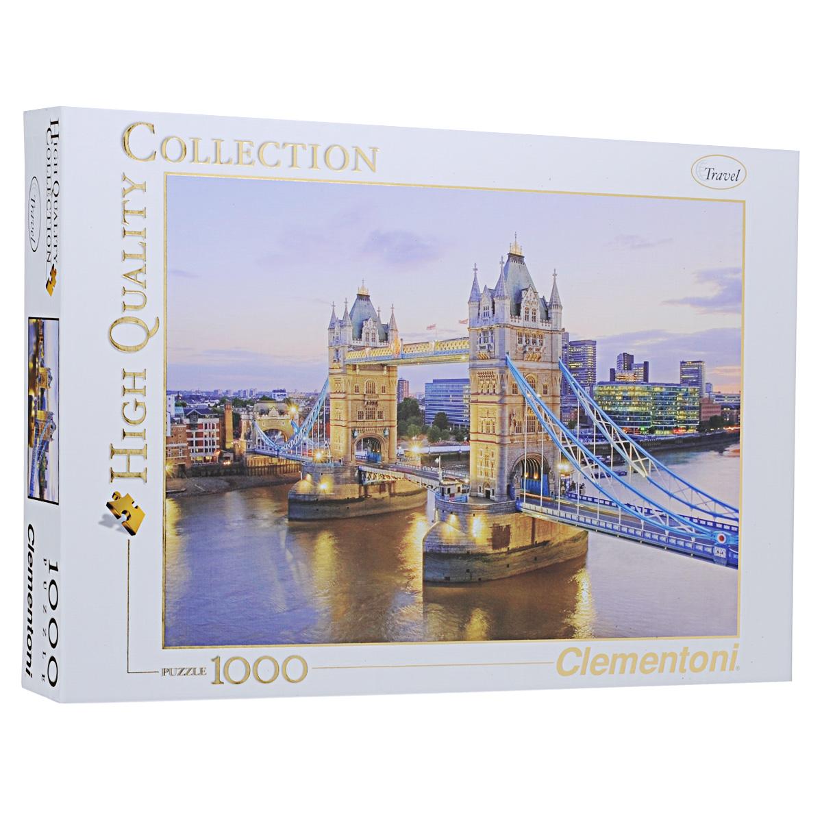 Тауэрский мост. Пазл, 1000 элементов39022Пазл Тауэрский мост из 1000 элементов изображает вид на самый знаменитый мост Англии. Тауэрский мост, построенный во второй половине XIX века, ввиду необходимости, стал известнейшим символом Великобритании. Пазлы - прекрасное антистрессовое средство для взрослых и замечательная развивающая игра для детей. Собирание пазла развивает у ребенка мелкую моторику рук, тренирует наблюдательность, логическое мышление, знакомит с окружающим миром, с цветом и разнообразными формами, учит усидчивости и терпению, аккуратности и вниманию. Собирание пазла - прекрасное времяпрепровождение для всей семьи.