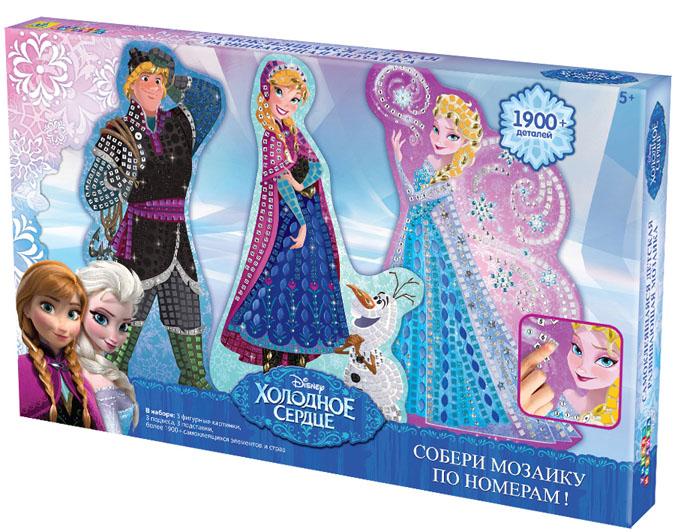 Мозаика по номерам Disney: Холодное сердце, 3 в 100428Мозаика по номерам Disney: Холодное сердце позволит вам и вашему ребенку без особого труда создать 3 великолепные сверкающие картины с изображениями героев мультфильма Холодное сердце. В набор входят 3 картонные основы с изображениями Кристоффа, Анны и Эльзы, 3 подвеса, 3 подставки и более 1900 самоклеящихся украшений. Мозаика Disney: Холодное сердце позволит прикоснуться к волшебству Эльзы - украсьте фигурные картинки блестящими элементами, и принцессы-сестры порадуют вас своим волшебством! Умная мозаика с самоклеящимися элементами отличается высоким качеством исполнения и красочным цветовым дизайном. На картонную основу уже нанесен рисунок. Процесс создания мозаики несложен и под силу даже ребенку - сначала нужно выбрать элементы мозаики по номеру и цвету, затем отделить их от общего блока и наклеить на подходящее по номеру и цвету место на рисунке. Данный набор прекрасно развивает моторику рук и пространственное мышление, а также воображение и...