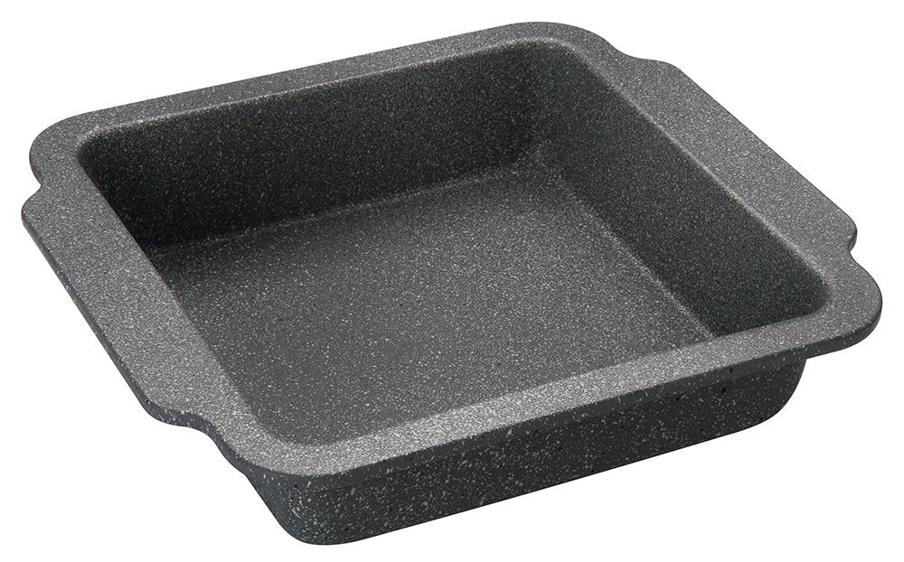 Форма для выпечки Regent Inox Easy, с антипригарным покрытием, 30 х 27 см93-CS-EA-22-03Квадратная форма для выпечки Regent Inox Easy, выполненная из углеродистой стали с двухсторонним антипригарным покрытием, сохраняет сочность продуктов, а также натуральный насыщенный вкус и аромат. Безопасное антипригарное покрытие Granite Coating повторяет структуру камня (гранит) и имеет большую устойчивость к образованию царапин. Форма для выпечки равномерно и быстро прогревается, что способствует лучшему пропеканию пищи. Легко чистить и извлекать выпечку из формы. Подходит для использования в духовке с максимальной температурой 250 °С. Смазывайте внутреннюю поверхность формы небольшим количеством масла перед каждым использованием. Чтобы избежать повреждений антипригарного покрытия, не используйте металлические или острые кухонные принадлежности. С формой для выпечки Regent Inox готовить любимые блюда станет еще проще. Можно мыть в посудомоечной машине.