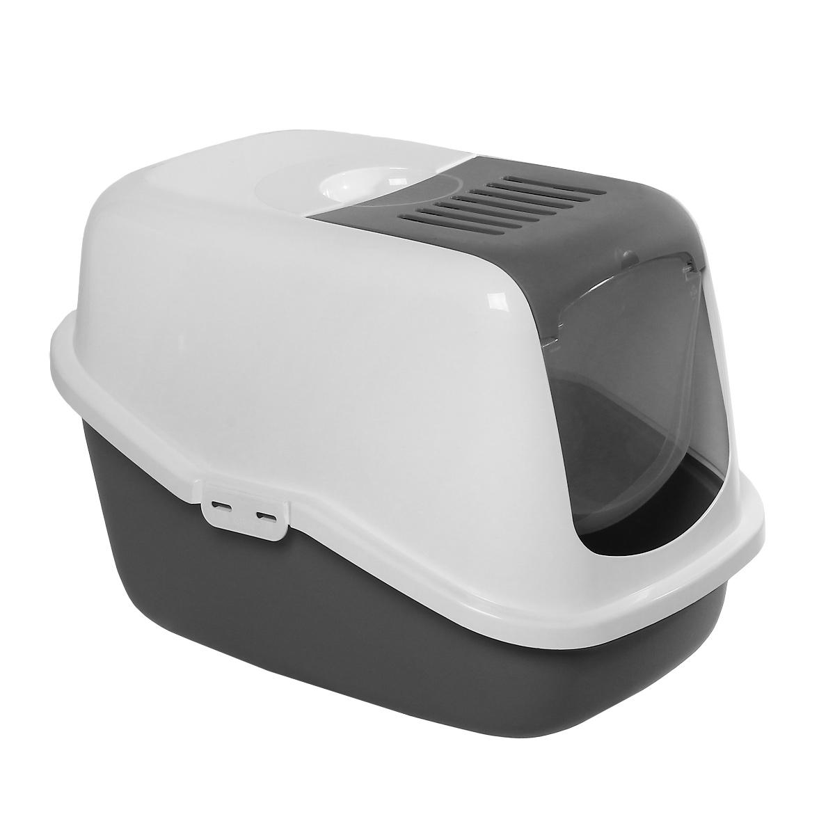 Туалет для кошек Savic Nestor, закрытый, цвет: белый, светло-серый, 56 см х 39 см х 38,5 см0227- 00WGТуалет для кошек Savic Nestor изготовлен из качественного прочного пластика в виде домика. Легкая прозрачная пластиковая крышка предотвратит распространение запаха в доме. Это самый простой в употреблении предмет обихода для кошек и котов. Фильтр в комплект не входит.