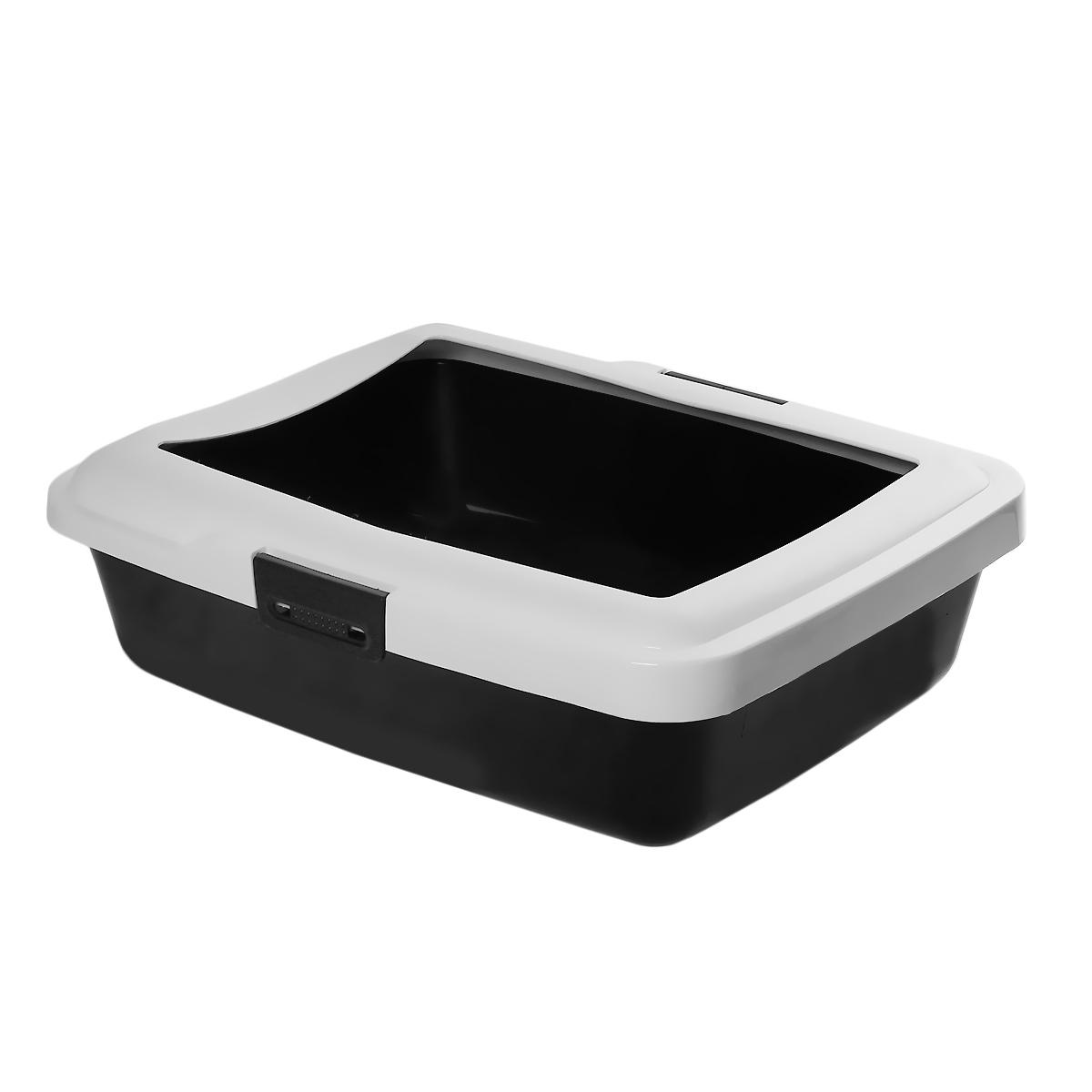 Туалет для кошек Savic Aristos Large, с бортом, цвет: черный, белый, 49,5 см х 39,5 см х 15 см226Туалет для кошек Savic Aristos Large изготовлен из качественного прочного пластика. Высокий цветной борт, прикрепленный по периметру лотка замками, удобно защелкивается и предотвращает разбрасывание наполнителя. Это самый простой в употреблении предмет обихода для кошек и котов.