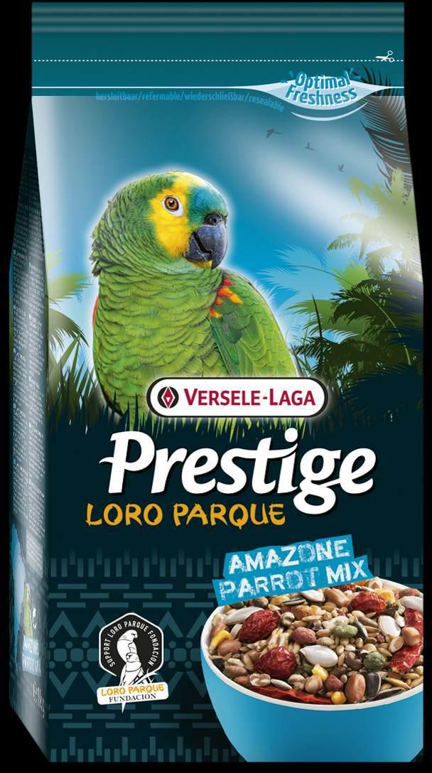 Корм для крупных попугаев Versele-Lago Amazon Parrot Loro Parque Mix, 1 кг421930Смесь Versele-Lago Amazon Parrot Loro Parque Mix для крупных попугаев - это обогащенная зерновая смесь с дополнительными питательными веществами, разработанная специально для южно-американских крупных попугаев, таких как попугаи амазоны, пионусы, белобрюхие попугаи, мелкие ара и большие аратинги. Все смеси серии Prestige Premium Loro Parque приготовлены из различных семян и зерен и содержат вкусные для попугаев кусочки, такие как воздушные зерна, семена тыквы, шиповник, сушеный перец и кедровые орешки. Этот основной высококачественный корм с низким содержанием жира обогащен 8% гранул Maxi ВAM, обеспечивающими дополнительный запас витаминов, аминокислот и минералов. Данная смесь адаптирована под потребности попугаев, ее состав разрабатывался совместно с научно-исследовательской группой Loro Parque. Смесь применяется в качестве основного корма для всех попугаев ара. После успешного опыта применения в известном Loro Parque (в Тенерифе), данная смесь...