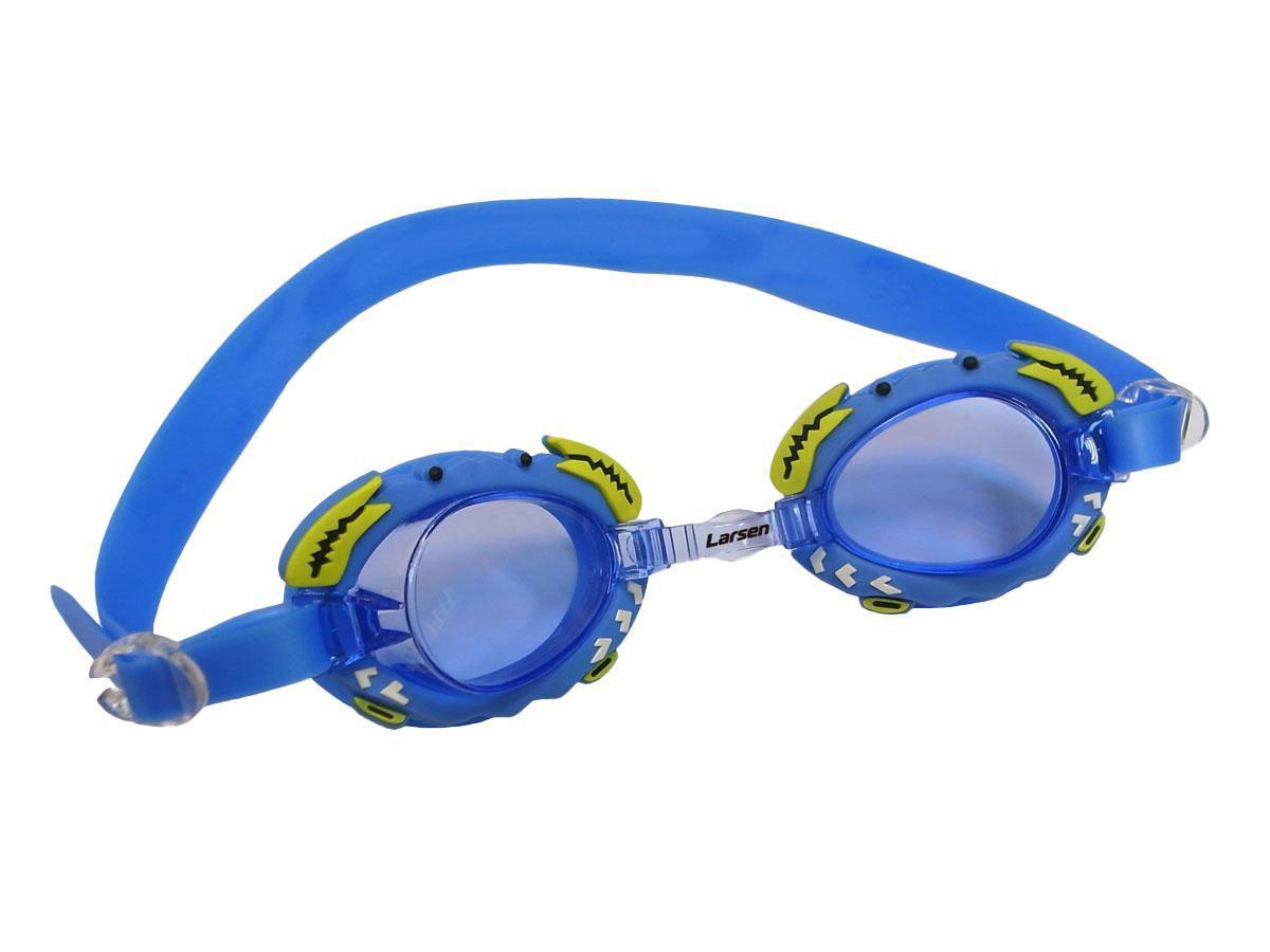 Очки плавательные Larsen Крабик, цвет: синий236095