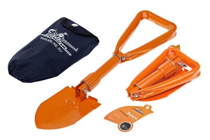 Лопата саперная Airline, складная, 60 смAB-S-03Удобная и практичная складная лопата Airline, выполненная из стали, предназначена для различного вида работ, в том числе и земляных. Не заменима в походных условиях. Благодаря компактным размерам ее удобно держать в багажнике автомобиля и легко можно поместить в туристический рюкзак. С помощью данной лопаты Вы сможете без особых проблем откопать застрявшее колесо. Для каждого автолюбителя данная лопата окажется незаменимой!