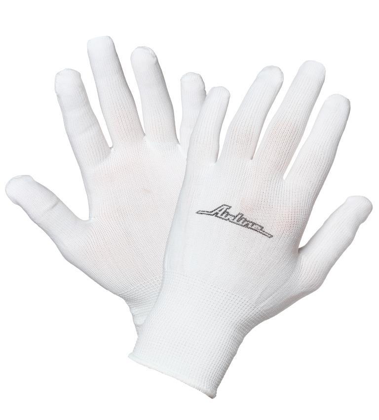 Перчатки нейлоновые AirlineAWG-NS-12Нейлоновые перчатки Airline позволяют обеспечить защиту рук при выполнении большинства бытовых или производственных работ. Преимущества: Защита рук от механических повреждений; Высокая чувствительность для работы с мелкими деталями; Высокая износоустойчивость.