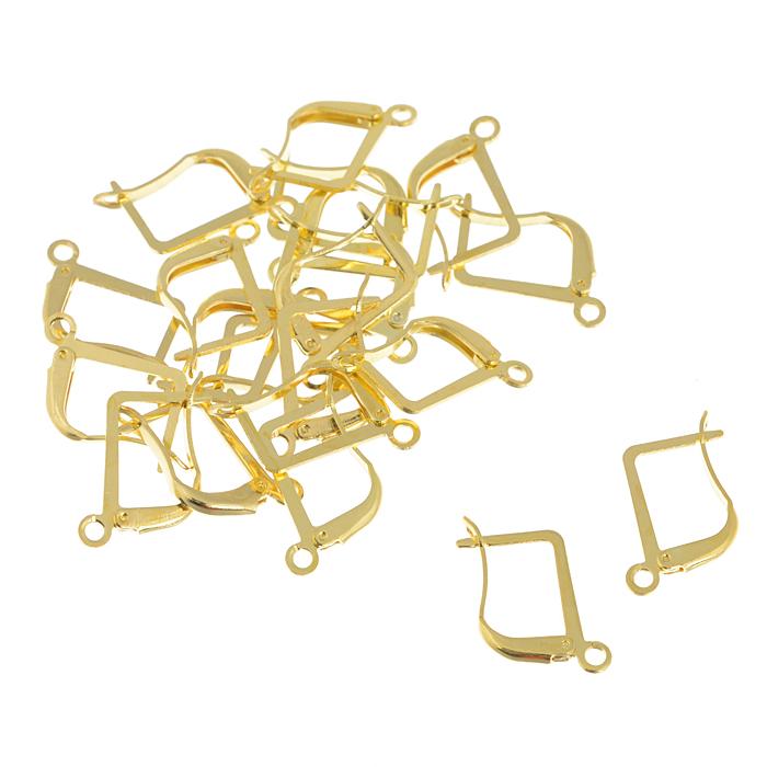 Основа для серег Астра Английский замок, цвет: золотистый, 13,5 мм, 20 шт7704267_золотоКомплект основ для сережек Астра Английский замок состоит из 20 основ с английским замком, которые изготовлены из металла. С этими основами вы сможете легко сделать прекрасные сережки. Радуйте себя и своих близких украшениями сделанными своими руками!