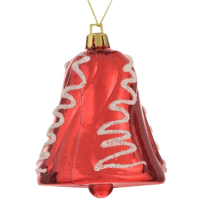 Набор новогодних подвесных украшений Sima-land Колокольчик, цвет: красный, 4 шт. 724181724181