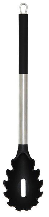 Ложка для спагетти Borner Ideal, длина 32 см860865Ложка для спагетти Borner Ideal, изготовленная из высококачественного пластика и нержавеющей стали, предназначена для раздачи спагетти. Отлично подойдёт для любителей итальянской кухни. Специально изготовленная ложка не позволит спагетти соскальзывать, а отверстия в её центре отлично пропускают жидкость, что позволяет использовать её для любых варёных продуктов. Ручка снабжена специальным отверстием для подвешивания. Ложка для спагетти Borner Ideal займет достойное место среди аксессуаров на вашей кухне. Можно мыть в посудомоечной машине.
