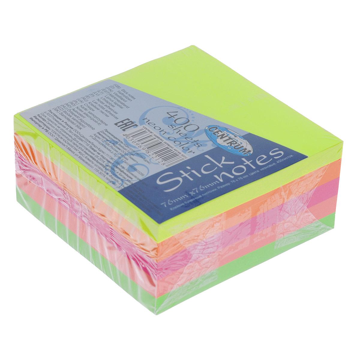 """Блок для записей """"Centrum"""", с липким слоем, 7,6 см х 7,6 см"""