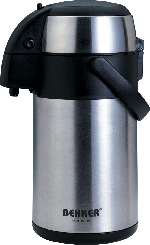 Термос Bekker, с помпой, 1,9 л. BK-4013BK-4013Термос Bekker изготовлен из высококачественной нержавеющей стали 18/8 с матовой полировкой в комбинации с пластиком. Подходит для горячих и холодных напитков. Двойные стенки позволяют напитку дольше сохранять свою температуру. Функциональная крышка открывается и закрывается нажатием двух кнопок сбоку. Благодаря помпе жидкость легко выливается при нажатии на термос сверху. Термос оснащен системой блокировки, что предотвратит случайное проливание жидкости. Для удобной переноски предусмотрена ручка. Легкий и прочный термос Bekker сохранит ваши напитки горячими или холодными надолго. Он прекрасно подойдет и для отдыха на природе, и для поездки.