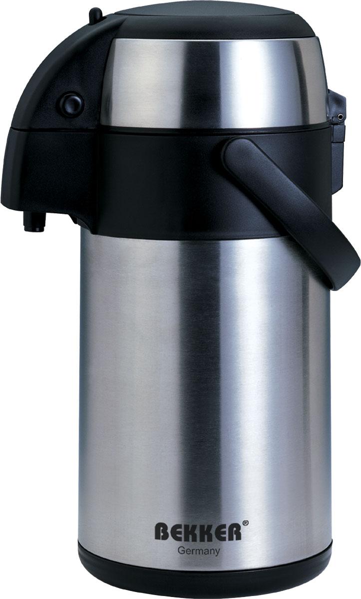 Термос Bekker, с помпой, 2,2 л. BK-4014BK-4014Термос Bekker изготовлен из высококачественной нержавеющей стали 18/8 с матовой полировкой в комбинации с пластиком. Подходит для горячих и холодных напитков. Двойные стенки позволяют напитку дольше сохранять свою температуру. Функциональная крышка открывается и закрывается нажатием двух кнопок сбоку. Благодаря помпе жидкость легко выливается при нажатии на термос сверху. Термос оснащен системой блокировки, что предотвратит случайное проливание жидкости. Для удобной переноски предусмотрена ручка. Легкий и прочный термос Bekker сохранит ваши напитки горячими или холодными надолго. Он прекрасно подойдет и для отдыха на природе, и для поездки.