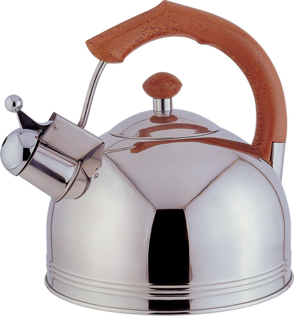 Чайник Bekker Koch со свистком, 3 л. BK-S317BK-S317Чайник Bekker Koch выполнен из высококачественной нержавеющей стали, что обеспечивает долговечность использования. Внешнее зеркальное покрытие придает приятный внешний вид. Пластиковая фиксированная ручка делает использование чайника очень удобным и безопасным. Чайник снабжен свистком и устройством для открывания носика. Изделие оснащено капсулированным дном для лучшего распространения тепла. Можно мыть в посудомоечной машине. Пригоден для всех видов плит кроме индукционных. Высота чайника (без учета крышки и ручки): 11,5 см. Диаметр основания: 20 см. Толщина стенки: 3 мм.