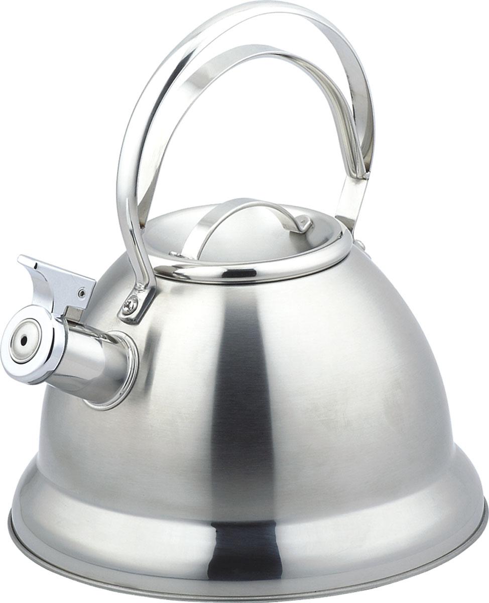 Чайник Bekker De Luxe со свистком, 2,5 л. BK-S425BK-S425Чайник Bekker De Luxe изготовлен из высококачественной нержавеющей стали. Поверхность матовая с зеркальной полосой у основания. Капсулированное дно распределяет тепло по всей поверхности, что позволяет чайнику быстро закипать. Ручка фиксированная. Носик оснащен откидным свистком, который подскажет, когда вода закипела. Подходит для всех типов плит, включая индукционные. Можно мыть в посудомоечной машине.