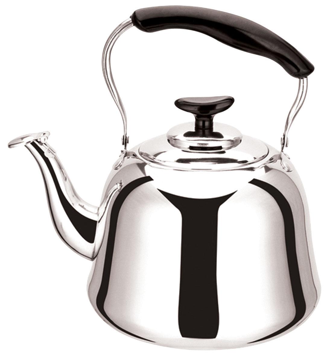 Чайник Bekker Koch со свистком, 4 л. BK-S478BK-S478Чайник Bekker Koch изготовлен из высококачественной нержавеющей стали с зеркальной полировкой. Цельнометаллическое дно распределяет тепло по всей поверхности, что позволяет чайнику быстро закипать. Эргономичная подвижная ручка выполнена из нержавеющей стали и бакелита черного цвета. Носик оснащен откидным свистком, который подскажет, когда вода закипела. Широкое отверстие по верхнему краю позволяет удобно наливать воду. Подходит для всех типов плит, включая индукционные. Можно мыть в посудомоечной машине.