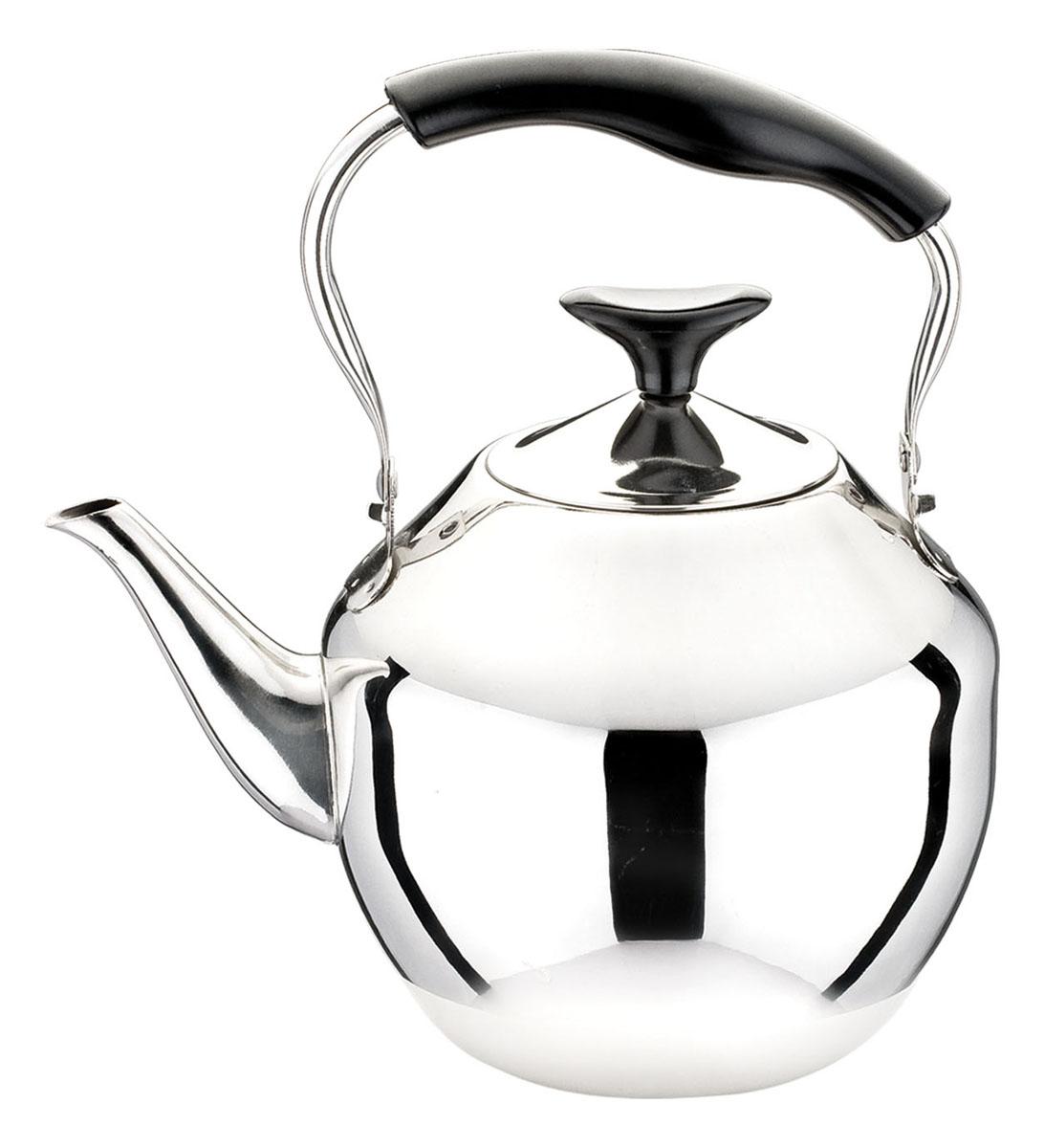 Чайник Bekker Koch, 4 л. BK-S481BK-S481Чайник Bekker Koch изготовлен из высококачественной нержавеющей стали с зеркальной полировкой. Цельнометаллическое дно распределяет тепло по всей поверхности, что позволяет чайнику быстро закипать. Эргономичная подвижная ручка выполнена из нержавеющей стали и бакелита черного цвета. Широкое отверстие по верхнему краю позволяет удобно наливать воду. Подходит для всех типов плит, включая индукционные. Можно мыть в посудомоечной машине.