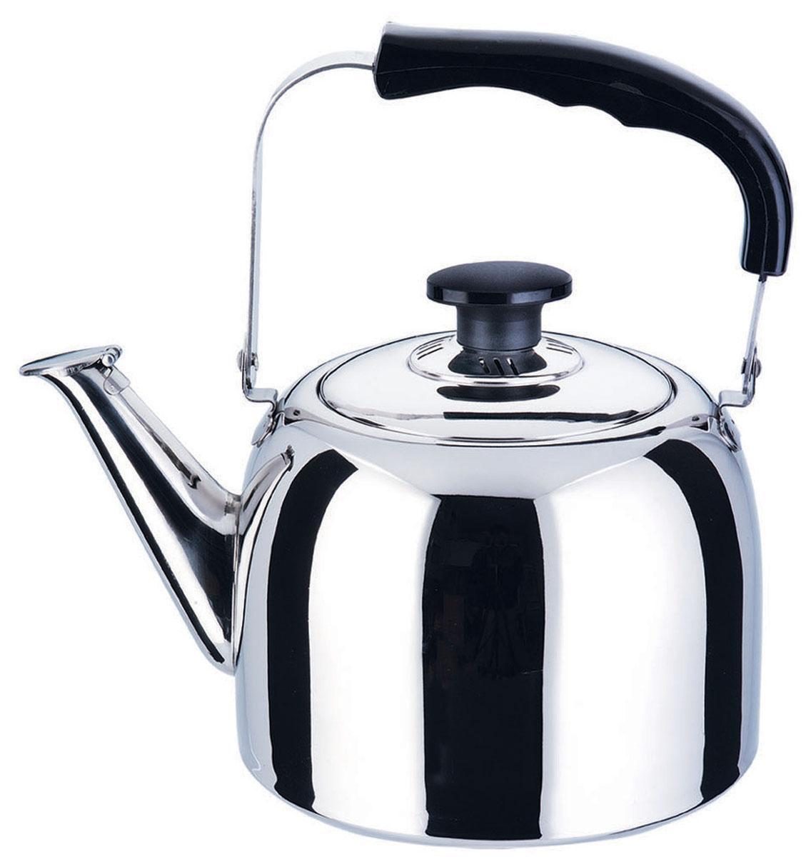 Чайник Bekker Koch со свистком, 3 л. BK-S482BK-S482Чайник Bekker Koch изготовлен из высококачественной нержавеющей стали с зеркальной полировкой. Цельнометаллическое дно распределяет тепло по всей поверхности, что позволяет чайнику быстро закипать. Эргономичная подвижная ручка выполнена из нержавеющей стали и бакелита черного цвета. Носик оснащен откидным свистком, который подскажет, когда вода закипела. Широкое отверстие по верхнему краю позволяет удобно наливать воду. Подходит для всех типов плит, включая индукционные. Можно мыть в посудомоечной машине.