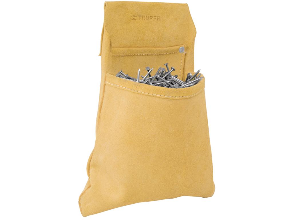 Сумка поясная для гвоздей и мелких инструментов, 2 отделения.Изготовленна из кожи толщиной 1.2 мм TRUPER POR-CLA