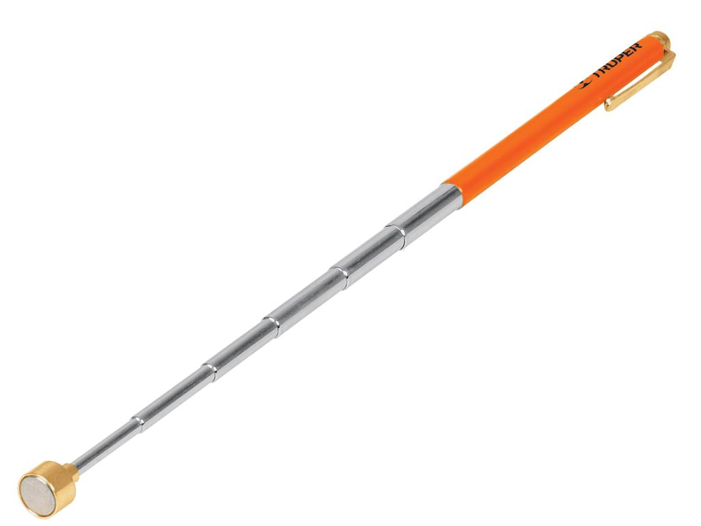 Манипулятор телескопический Truper, с магнитной головкой, максимальный вес предмета 1,5 кгPICK-UPТелескопический манипулятор Truper с магнитной головкой предназначен для извлечения небольших металлических предметов из труднодоступных мест. Максимальная длина манипулятора: 63 см. Максимальный вес удерживаемого предмета: 1,5 кг.